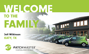 PatchMaster Specialty Drywall Repair Franchise Opening in Katy
