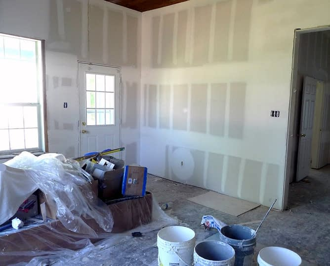 A Room that Needs Drywall Work